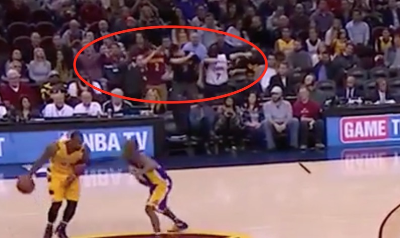 Wtf cavs fans stand and dab in unison during game vs lakers video