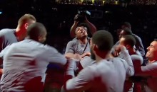 LA Clippers Players Beat (Stab?) Paul Pierce During Pregame Into in Boston (Video)