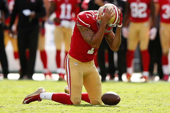Colin Kaepernick sad