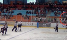 While Teammate Fights, Minor League Hockey Player Rocks Out on Air Guitar (Video)
