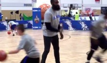 James Harden Plays Defense vs. Kids Like He Plays Defense vs. NBA Opponents (Video)
