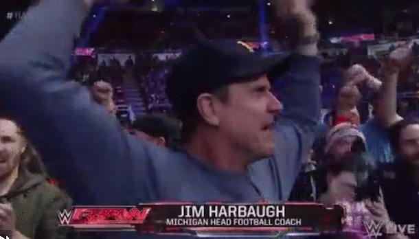 Jim Harbaugh WWE Fan
