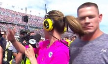 NASCAR Reporter Completely Ignores John Cena (Video)