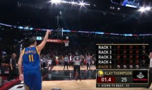 Klay Thompson Beats Steph Curry in NBA Three-Point Contest (Video)