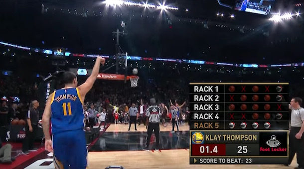 Klay Thompson three-point contest