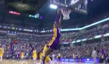 Kobe Bryant Barely Reaching the Rim on This Dunk is Just Sad (Video)