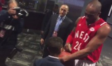 Kobe Bryant Does Awesome Thing, Makes Kid's Day at All-Star Game (Video)
