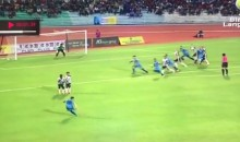 This Soccer Free Kick Had The Most Ridiculous Curve You'll Ever See (Video)