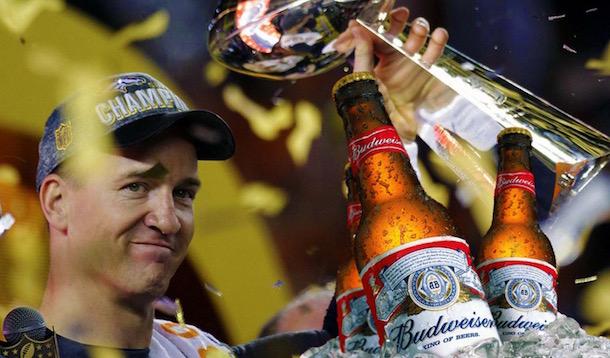 Peyton Manning Super Bowl Budweisers