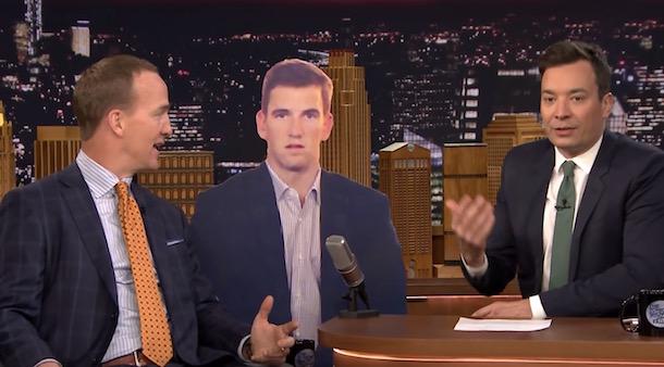 Peyton Manning on Fallon - Eli Sad Face