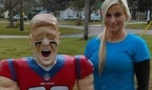 Hot Houston Fan Carves Wooden Statue of J.J. Watt, Who Loved It (Pic)