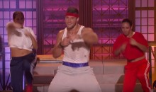 "Tim Tebow Does His Best Rocky Balboa on ""Lip Sync Battle"" (Video)"