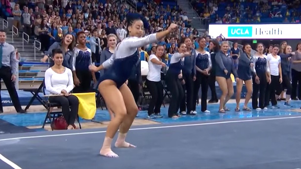 UCLA gymnast Sophina DeJesus