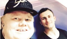 Why Was Johnny Manziel Hanging Out with Louie Anderson for Valentine's Day? (Pic)