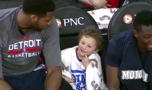 Andre Drummond Brings Adorable Kid to Sit on Pistons Bench…During Game (Video)