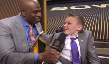 8-Year-Old Cancer Survivor Interviews Peyton Manning at Super Bowl 50 Media Night
