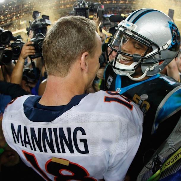 cam newton congratulates peyton manning super bowl 50