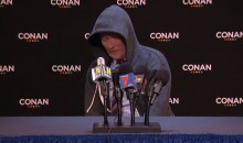 Conan Did a Great Imitation of Cam Newton's Press Conference (Video)