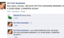 NFL QB Convo on Facebook: Peyton Manning is The Champ!