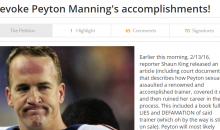Patriots fans Create Petition To Revoke Peyton Manning's Accomplishments
