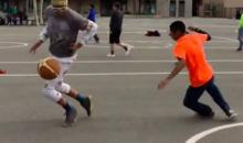 Kid Gets Ankles Broken By Girl Wearing Emojis Pants (Video)