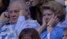 This Couple Had a Hard Time Dealing with the Noise at the Duke-UNC Game (Pic)
