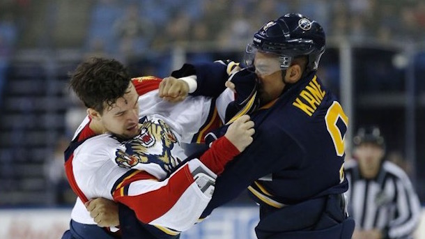 evander kane and alex petrovic fight three times in one game