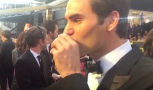 Roger Federer Does a Tequila Shot On-Air at the Oscars (Video)