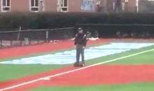 D-III College Baseball Umpire Takes Field on Hoverboard, Is Obviously Cool Dude (Video)