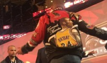 Drake Was Rocking a Very Gaudy 'Farewell, Mamba' Jacket at the All-Star Game (Pic)