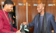Kobe Gave a Pair of Shoes to Paul George After Last Night's Game (Pics)
