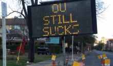 Texas Fans Hack Street Sign to Let OU Know What They Think of Them (Pic)