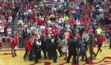 Rival Idaho High School Fans Brawl After Mascot Is Shoved (Video)