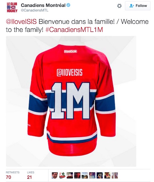 montreal canadiens twitter promotion fail iloveisis