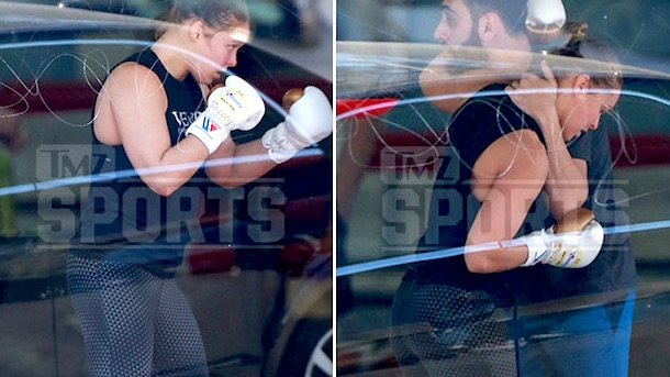 ronda rousey resumes training