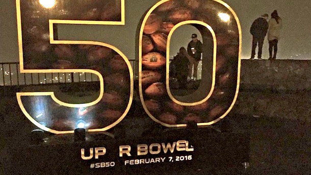 san francisco super bowl 50 sculptures defaced