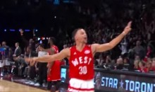 Steph Curry Knocks Down a Bomb from Halfcourt to End the All-Star Game (Video)