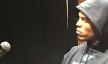 Cam Newton Walked Out Of The Press Conference Extremely Salty (Video)
