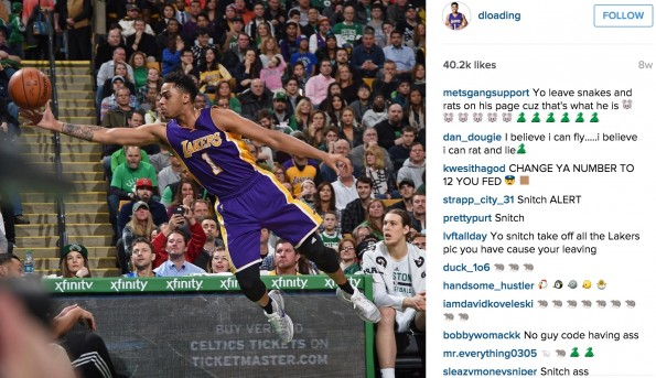 D'Angelo Russell Instagram Snitch