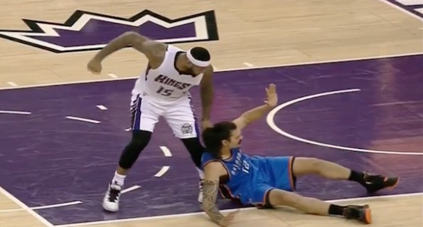 DeMarcus Cousins punch Steve Adams