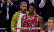 Drake Distracts Bulls' Justin Holiday Into 5-Second Violation (Video)