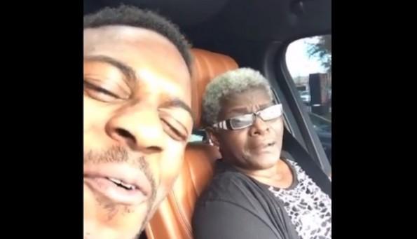 Emmanuel Sanders grandma butt fumble