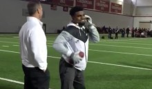 Ezekiel Elliott Shows Scouts He Can Talk on Phone, Make One-Handed Catch at the Same Time (Video)