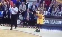 J.R. Smith Hits Crazy 3-Pointer That Doesn't Count, Bows Anyway (Video)