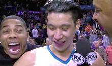 Jeremy Lin Videobombed by Nelly During Interview After Epic Comeback Win Over Spurs (Video)