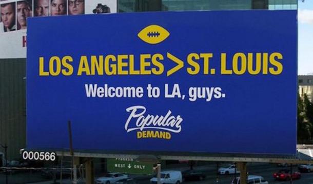 LA Rams Billboard