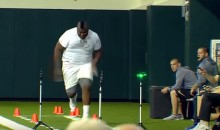Watch Baylor's 6'6″, 405-Pound Tight End Run an Impressive 40-Yard Dash (Video)