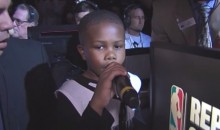 "Sacramento Kings Use ""LeBron James Kid"" to Introduce LeBron (Video)"