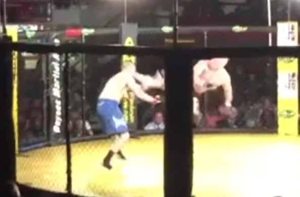 MMA spinning back kick