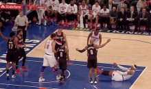 Carmelo Anthony Rejected By the Rim on Dunk Attempt After the Whistle (Video)